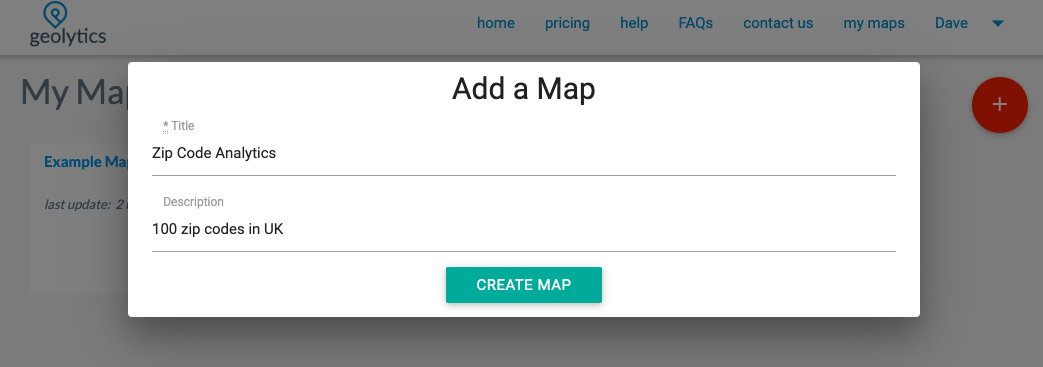 Postal code step2 add map